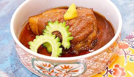 沖繩美食豬腳東坡肉豬耳朵內臟湯