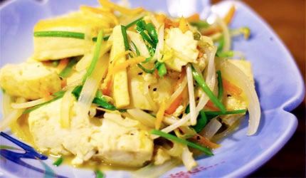 沖繩美食炒豆腐青菜豆腐雜炒