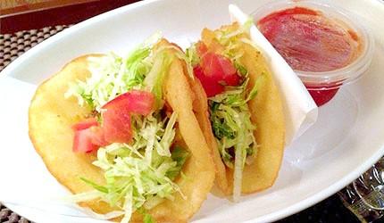 冲绳美食墨西哥夹饼塔可饼tacos