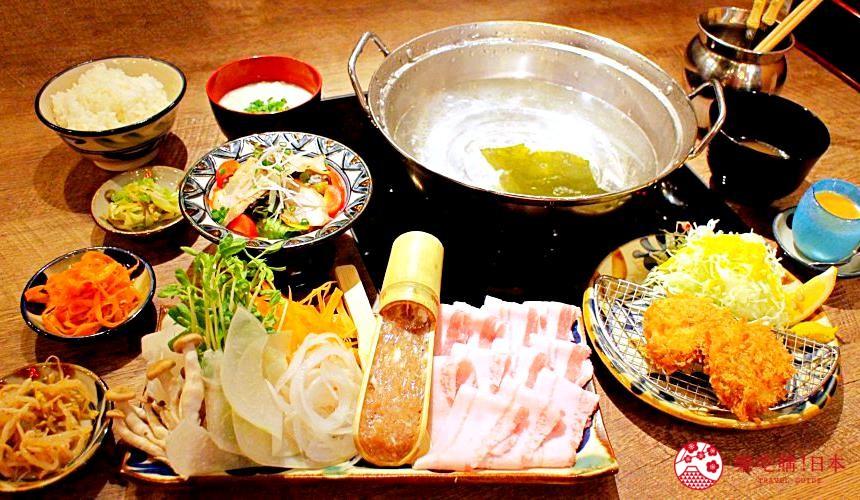 冲绳那霸阿古猪涮涮锅与猪排专门店推荐「冲绳猪排食堂岛豚屋」的料理