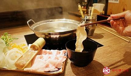 冲绳那霸阿古猪涮涮锅与猪排专门店推荐「冲绳猪排食堂岛豚屋」的阿古猪涮涮锅