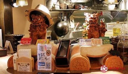 冲绳那霸阿古猪涮涮锅与猪排专门店推荐「冲绳猪排食堂岛豚屋」的风狮爷(シーサー)