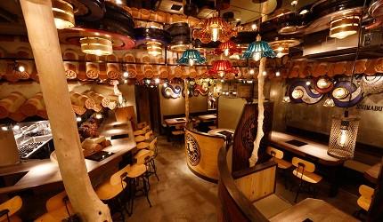 冲绳那霸阿古猪涮涮锅与猪排专门店推荐「冲绳猪排食堂岛豚屋」的店家内部座位
