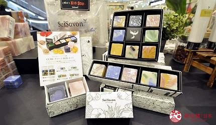 沖繩那霸有許多國際知名或本地有名氣的品牌進駐的新開購物中心「那霸OPA」內的天然香氛手工皂專賣店「SuiSavon首里石鹼」。