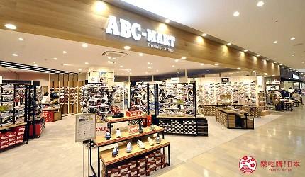 沖繩那霸有許多國際知名或本地有名氣的品牌進駐的新開購物中心「那霸OPA」內的「ABC-MART」出售的各式各樣的鞋款。