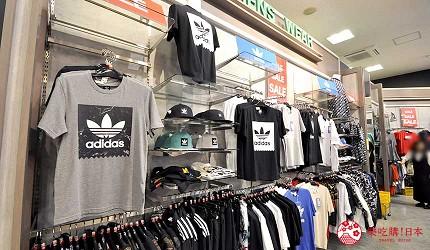 沖繩自由行必買唯一OUTLET「ASHIBINAA」裡的鞋店「ABC MART」賣的服飾