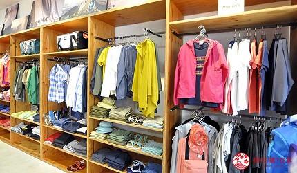 冲绳自由行必买唯一OUTLET「ASHIBINAA」里的户外运动休闲品牌代表「THE NORTH FACE」的各种衣服