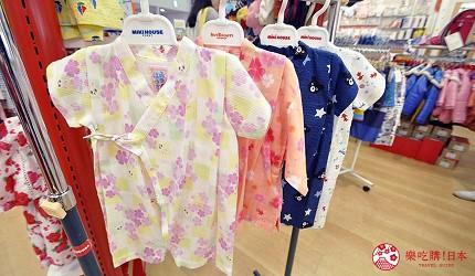 沖繩自由行必買唯一OUTLET「ASHIBINAA」裡的日本人氣童裝嬰兒品牌「Miki House」販售的小孩款「甚平」