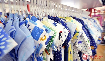 沖繩自由行必買唯一OUTLET「ASHIBINAA」裡的日本人氣童裝嬰兒品牌「Miki House」販售的多種小孩款「甚平」