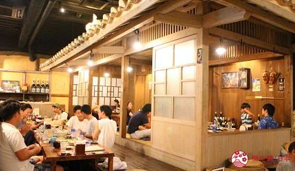 沖繩旅遊孝親自由行推薦美食餐廳「波照間」的店內一景