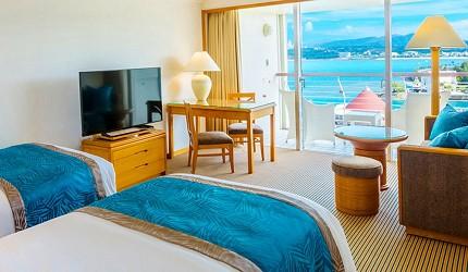 沖繩旅遊孝親自由行推薦必住飯店「RENAISSANCE RESORT 沖繩」的一般豪華海景房