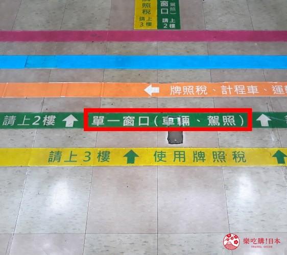 冲绳自驾游租车换国际驾照的台湾台北监理处室内照片