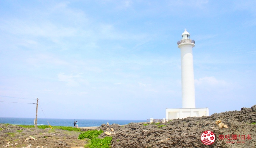 冲绳自驾游租车推荐景点残波岬雪白灯塔