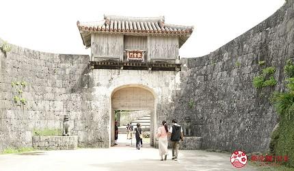 沖繩首里城示意圖