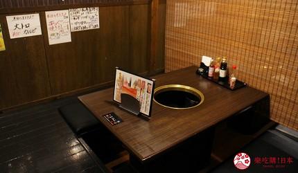 冲绳必吃美食推荐11选烧肉店家「烧肉乃我那霸」店内座位