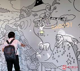 沖繩旅遊親子必去動物園「沖繩兒童王國」的獅子互動牆