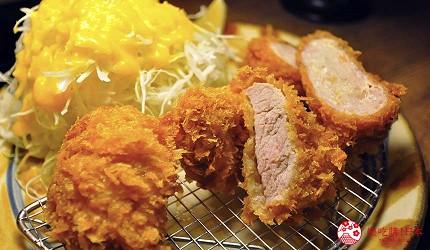冲绳那霸阿古猪涮涮锅与猪排专门店推荐「冲绳猪排食堂岛豚屋」的内的炸猪肉汉堡、炸菲力、炸猪肉卷