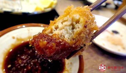 冲绳那霸阿古猪涮涮锅与猪排专门店推荐「冲绳猪排食堂岛豚屋」的炸猪排沾了酱