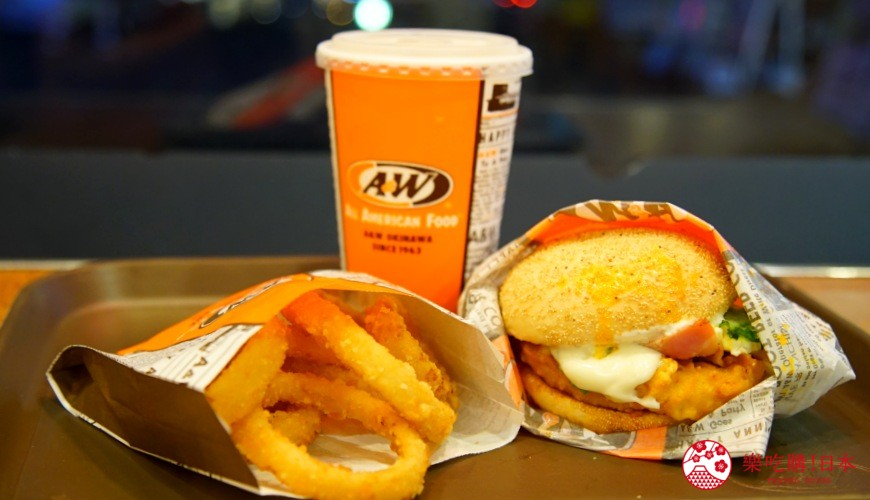 冲绳必吃美食推荐11选美国料理「A&W」的汉堡