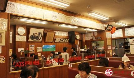 冲绳必吃美食推荐11选美国料理「杰克牛排」的店内装潢