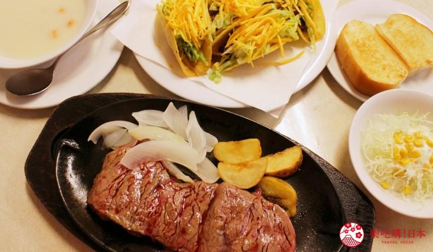 冲绳必吃美食推荐11选美国料理「杰克牛排」的牛排