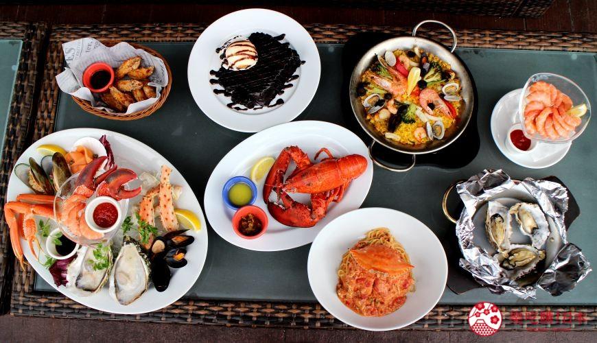 沖繩美國村超人氣名店「Red Lobster」沖繩北谷店店內餐點全照