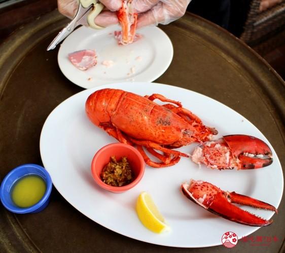 沖繩美國村超人氣名店「Red Lobster」沖繩北谷店鮮活蒸龍蝦(ライブロブスター スチーム)遠照