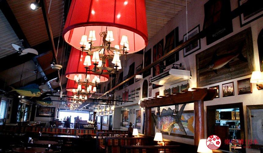 沖繩美國村超人氣名店「Red Lobster」沖繩北谷店的用餐環境