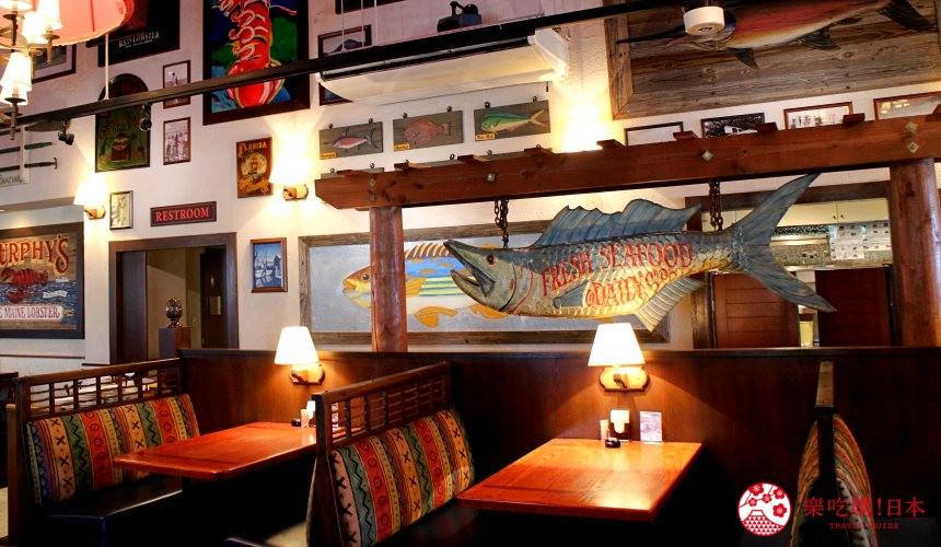 沖繩美國村超人氣名店「Red Lobster」沖繩北谷店店內座位