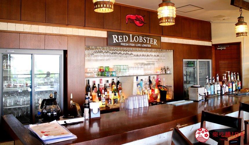 沖繩美國村超人氣名店「Red Lobster」沖繩北谷店店內吧檯座位