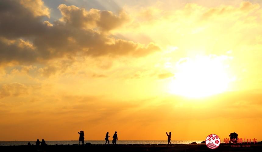 沖繩美國村超人氣名店「Red Lobster」沖繩北谷店附近公園日落場景