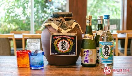 冲绳美食必吃南风中城店嫩滑明太子玉子烧爆浆海葡萄超推荐酒品摆满桌
