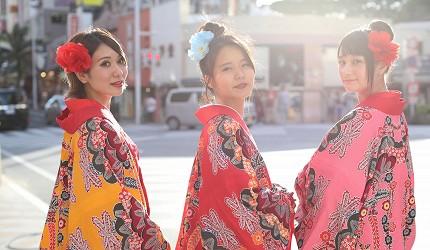 冲绳和服出租店推荐veni体验穿着南国传统琉装游冲绳的外景摄影方案